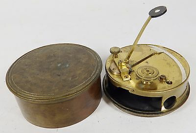 Antique Brass Pocket Sextant in Case - Cary London