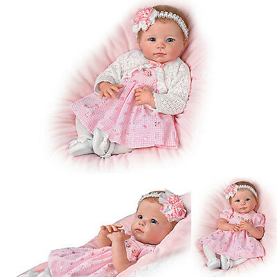 Adorable Amy weighted baby Doll by Artist Linda Murray for Ashton Drake