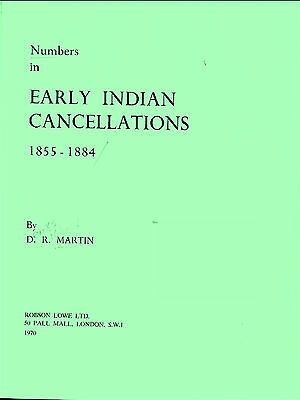 INDIA. NUMBERS IN EARLY INDIAN CANCELLATIONS 1855-1884 by Martin.