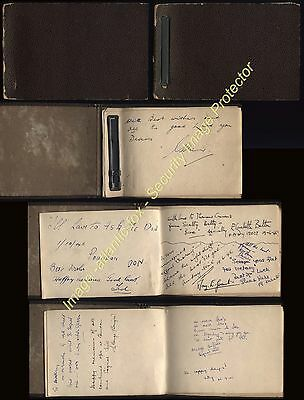 WWII S.O.E Special Operations Executive Autograph book belonging Operator AUDREY