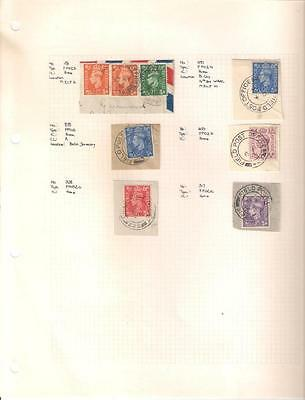 1753 , 6 x George VI Field Post Office Stamps, Circa 1940's/1950's, Used.