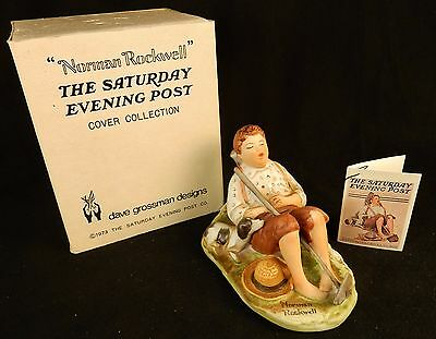 "Norman Rockwell Figurine ""Lazybones"" ~ 1973, Dave Grossman Designs, #NR-8"
