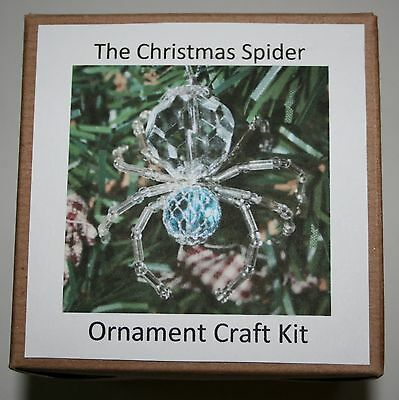 The Legend of the Christmas Spider Beading Ornament Kit. Makes 3. Blue Silver