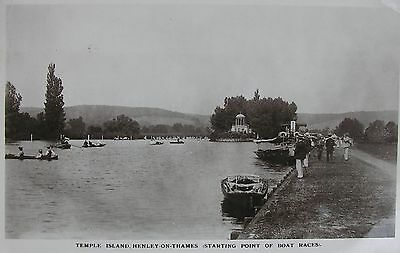 Boat Races Start Point Temple Island Henley On Thames Oxfordshire 1913 Rp Pc