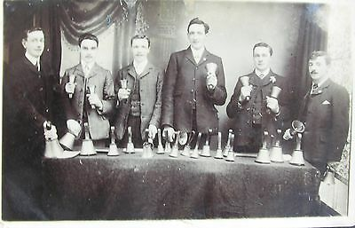 Hand Bell Ringers In Bedford Bedfordshire 1910 Rp Pc