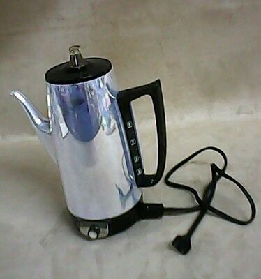 Vintage Ge General Electric Immersible 10 Cup Percolator Coffee Pot Maker