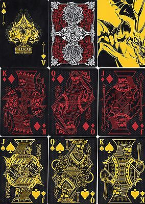 "SUPERB PACK ""Bicycle Type - Hellsgate (Black Version)"" Playing Cards"
