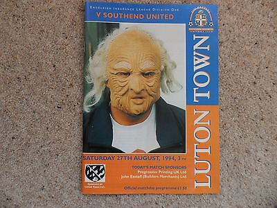 Luton Town v Southend United 1994-1995 Aug. 27th Division 1