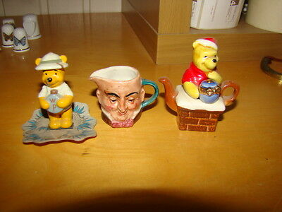2 Collectable Winnie-the-Pooh Figures 1 Collectable Artone Head Toby Jug