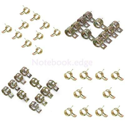 40pcs Φ6/9/10/12mm Spring Clip Air Tube Clamps for Fuel Hose Line Water Pipe