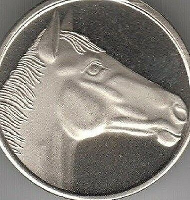 Quarter horse coin style nickel engravable key chain