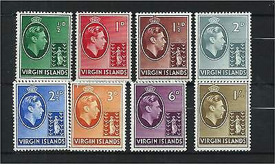 Virgin Islands 1942/3 Ordy Set to 1/- (8) Mounted Mint SG110a/7a