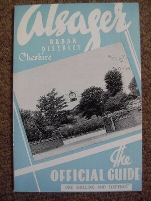 ALSAGER Cheshire Official Guide - late 1960's Local History Cheshire
