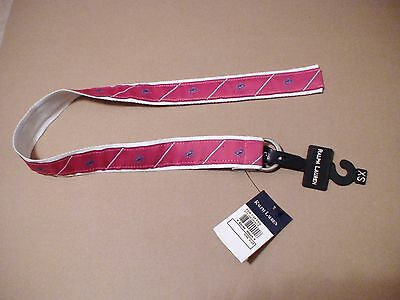 Ralph Lauren Polo Fuchsia Magenta Pink Sea Critter Crab Blue Summer Belt XS NWT