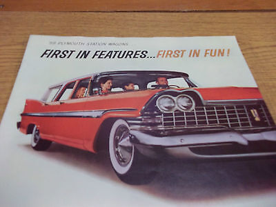 1959 Plymouth Station Wagons dealer brochure, 8 pages