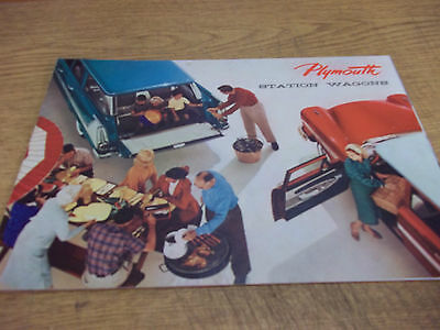 1958 Plymouth Station Wagons dealer brochure, trifold