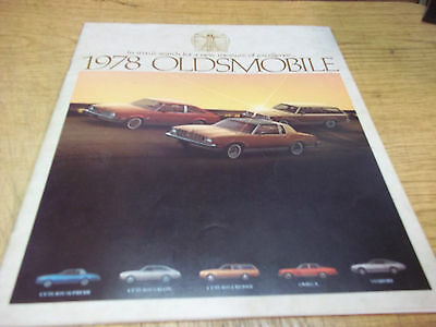 1978 Olds Cutlass Omega Starfire 28 page dealer brochure - FREE SHIP after # 1