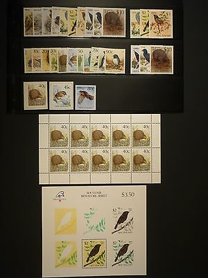 New Zealand - 1982/95 Birds Definitive Collection Mnh Face Value $50+ (Ref.a1)