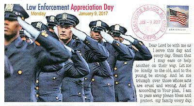 """COVERSCAPE computer designed """"National Law Enforcement Appreciation Day"""" cover"""