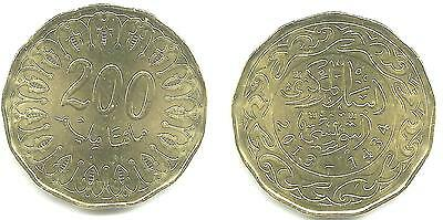 Tunisia 200 Mil. 2013 Uncirculated