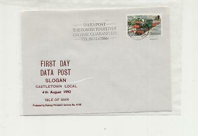 Isle of Man 1992 First Day of Datapost Slogan at Castletown Cover