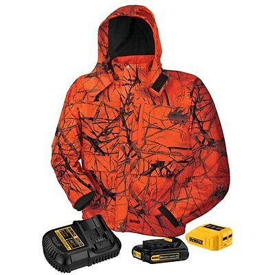 Dewalt DCHJ063C1 20v 12 20 Volt Heated Hooded Jacket Kit W/Battery L-XL NEW