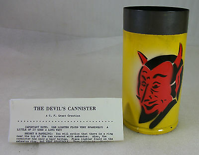 U. F. GRANT MAGIC VINTAGE DEVILS CANISTER EXCELLENT CONDITION wCOPY OF INSTRUCTs