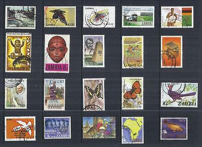 y489 Zambia / A Small Collection Early & Modern Used