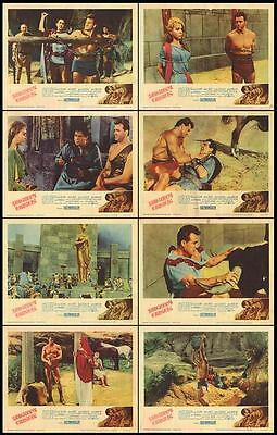 MIGHTY URSUS orig 1961 lobby card set ED FURY/MORIA ORFEI 11x14 movie posters
