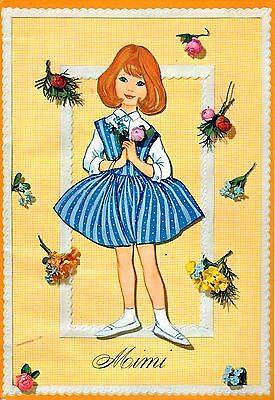 Mimi Paper Dolls Book Uncut 3D Bedroom Babies Clothes & Girl Made in Denmark