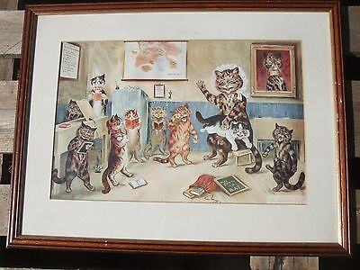 Louis Wain Antique  Print The Naughty Puss