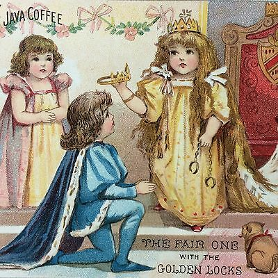 Antique 1880s LIBERTY Breakfast Java COFFEE Victorian Advertising TRADE CARD