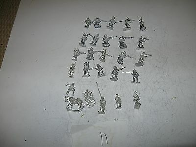 Wargames figures [11] -Confederate infantry-20 mm scale
