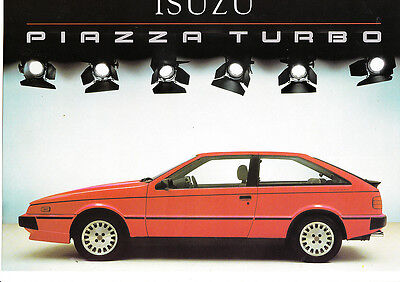Isuzu Piazza Turbo,Giugiaro Designed,2.0,150bhp,Factory Sales Brochure,1985