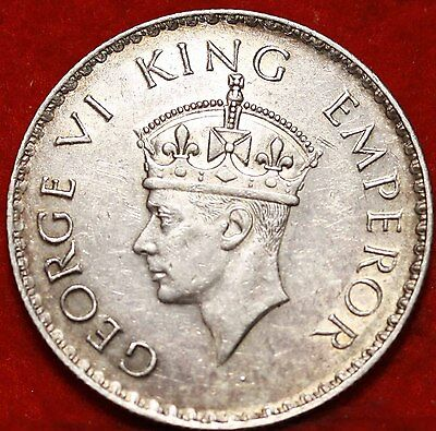 1938 India 1 Rupee Silver Foreign Coin Free S/H