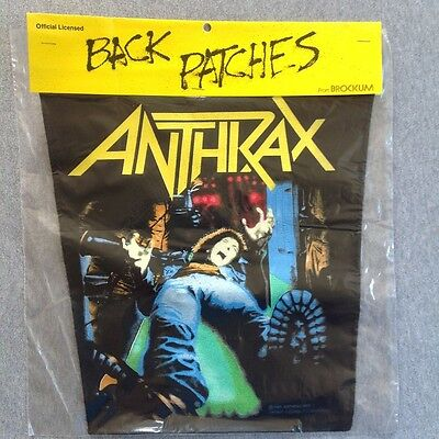 Vintage ANTHRAX 80s NOS BACK PATCH SPREADING THE DISEASE BROCKUM jacket metal
