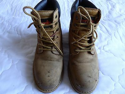 SCRUFFS STRATUS - Steel Toe Cap & Midsole, Tan, Safety Boots - Size 9