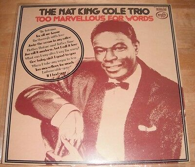 Nat King Cole - Too Marvellous For Words LP