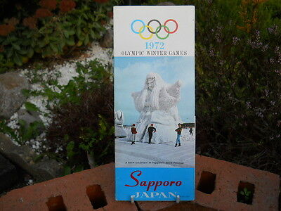 Sapporo, 1972 Olympic Winter Games, Promotional Fold-Out Booklet