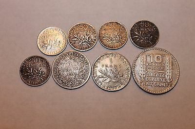 Lot of Silver France coins