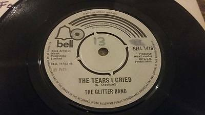 "Gary Glitter Band "" The Tears I Cried "" Ex Vintage 45 Rpm"