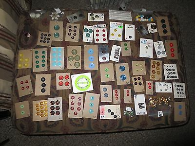 Buttons Mixed Lot Over 50 Store Cards,Plastic,Pearl,Glass,Metal