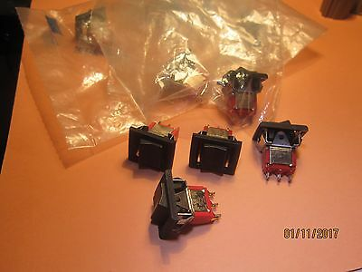 10 x   Min Rocker Switch single pole 3 position centre off, clip fixing