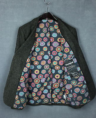 DESIGUAL Men's Leisure Blazer / Jacket With Removable Hood [SIZE 52 or ~LARGE*]