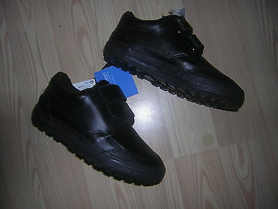 Brand New Next Boys  Black School Shoes Size 9 Small Boys