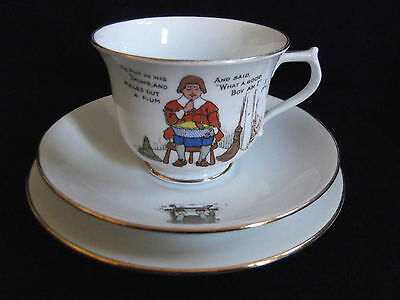 Superior Bell China Shore & Coggins Trio with Nursery Rhyme Characters - 1930's