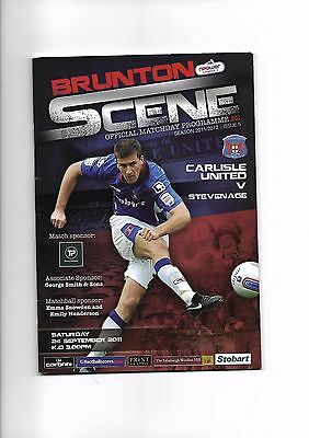 Carlisle United  v  Stevenage, 24th September 2011