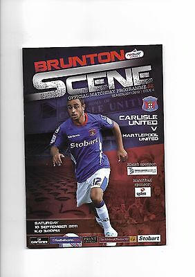 Carlisle United  v  Hartlepool United, 10th September 2011