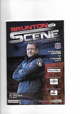 Carlisle United  v  Exeter City, 28th April 2012