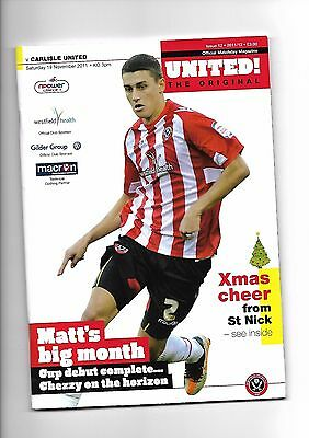 Sheffield United  v  Carlisle United, 19th November 2011
